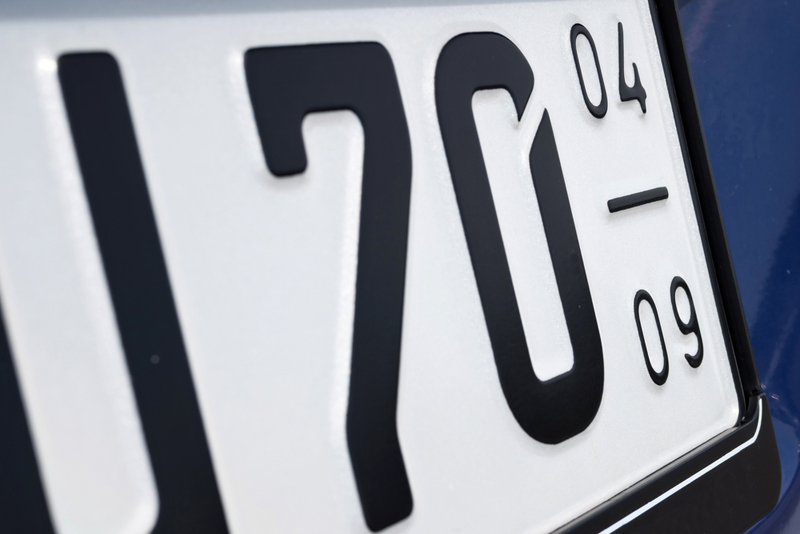 Unique personalised number plates for the taking.